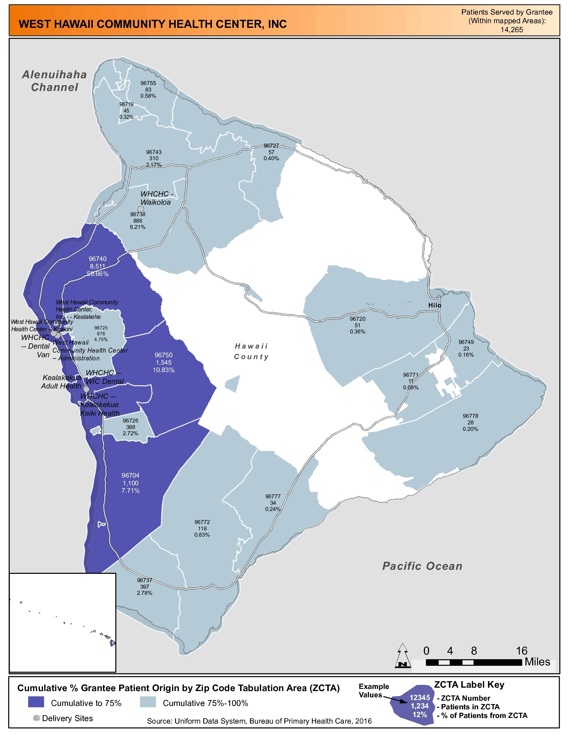 2016 west hawaii community health center inc health center profile service area map gumiabroncs Gallery